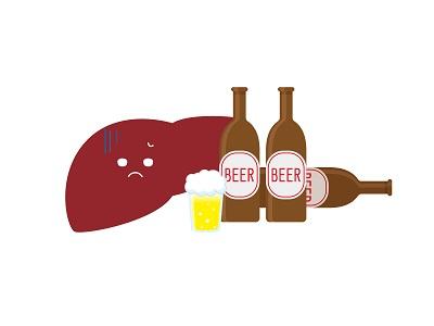 アルコールを分解する肝臓