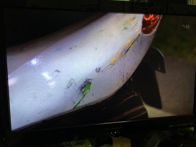 アンナチュラルのバイクの傷