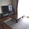 リビングに大画面テレビ